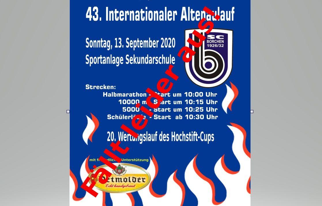 Absage des 43. Internationalen Altenaulaufs