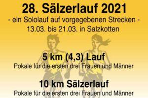 1. Lauf im Hochstift-Cup 2021 ist der 28. Sälzerlauf des VfB Salzkotten e.V.