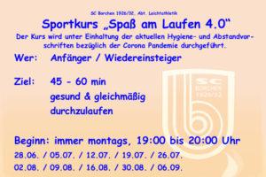 """Sportkurs """"Spaß am Laufen 4.0"""""""
