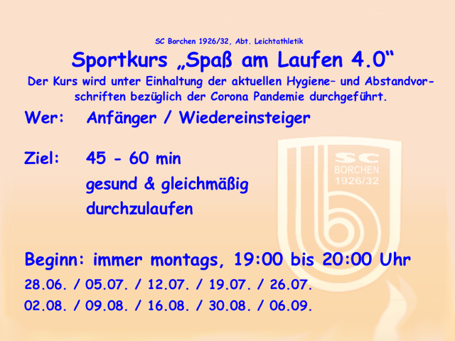 """You are currently viewing Sportkurs """"Spaß am Laufen 4.0"""""""